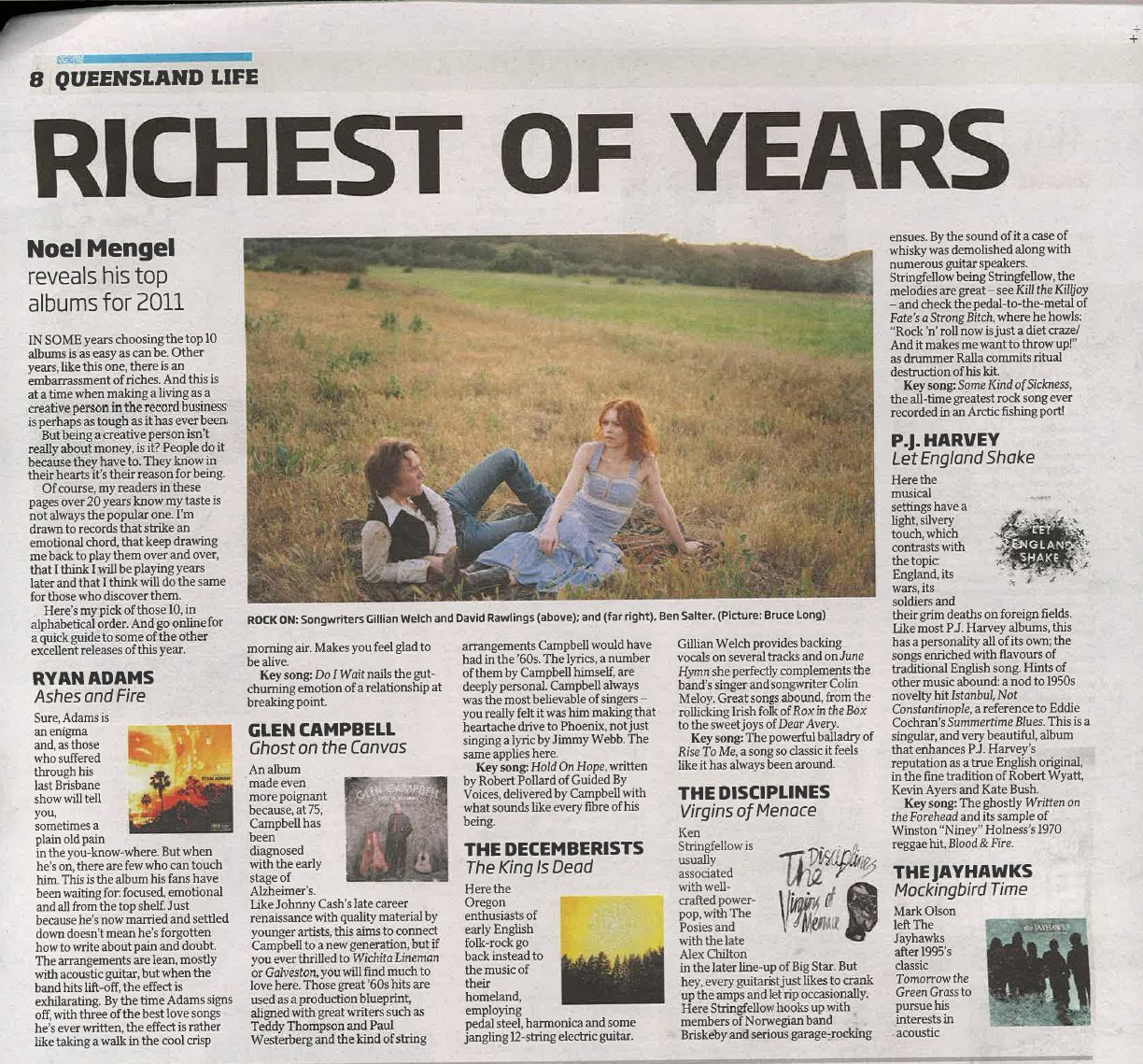 Best of 2011 / Year-End Lists | Gillian Welch